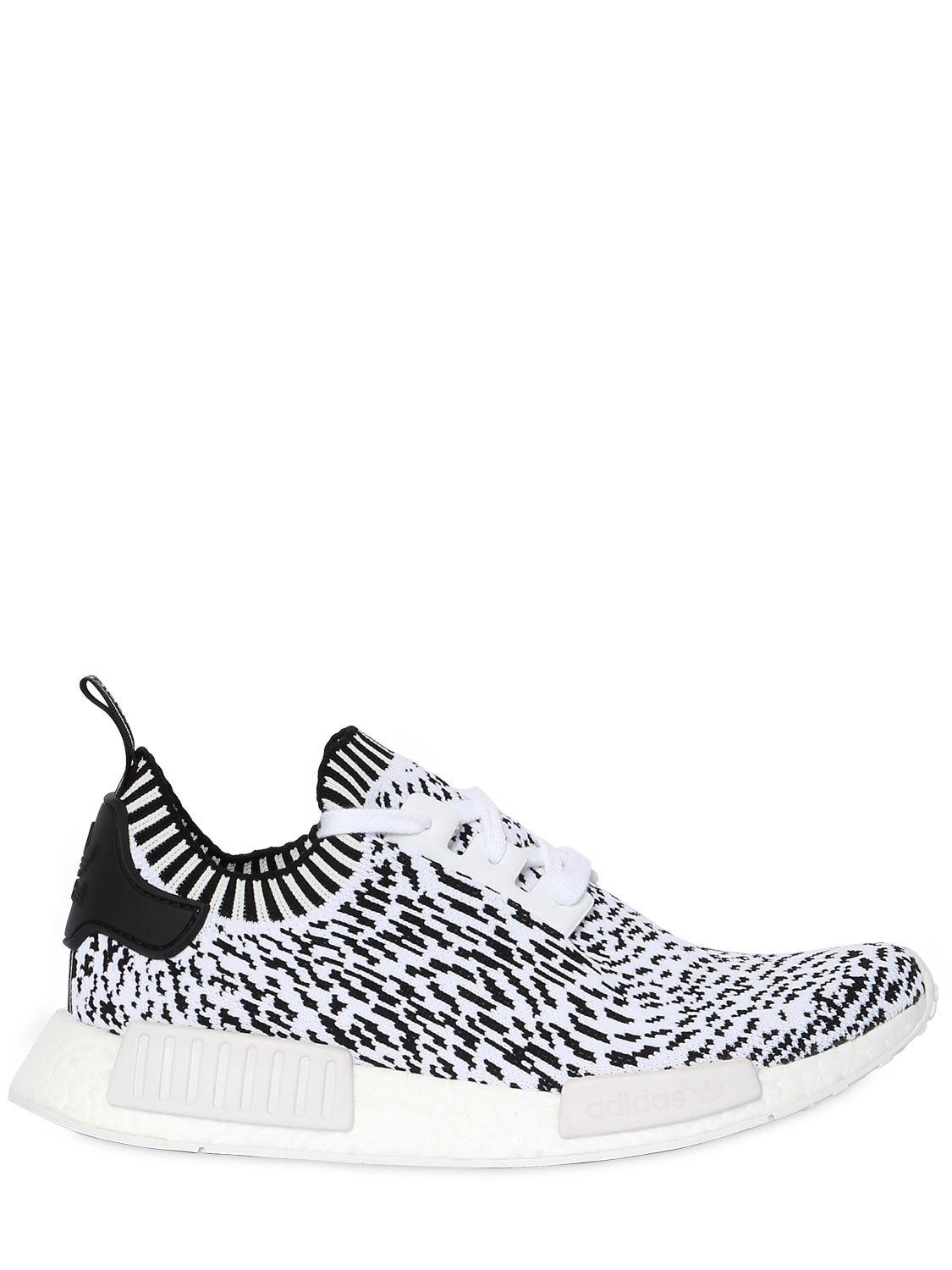 5d45730bd adidas Originals Nmd R1 Primeknit Sneakers in White for Men - Lyst