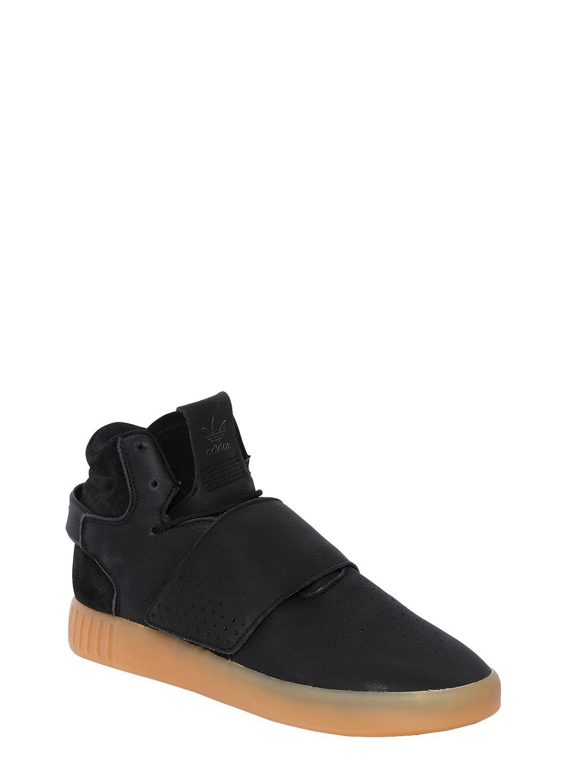 Lyst - adidas Originals Tubular Invader Strap Mid Top Sneakers in Black for  Men 26ce5f41a