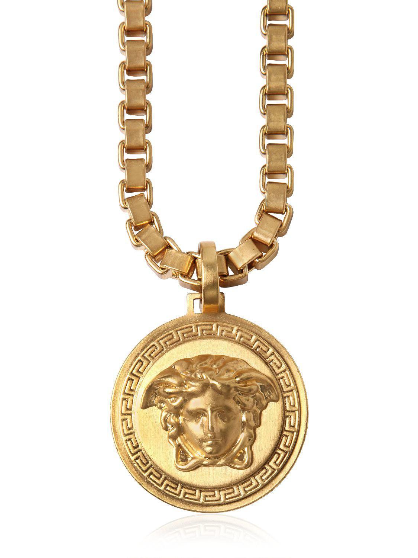 Lyst - Collier Chaîne Avec Pendentif Méduse Versace pour homme en ... 6a0a8482d64