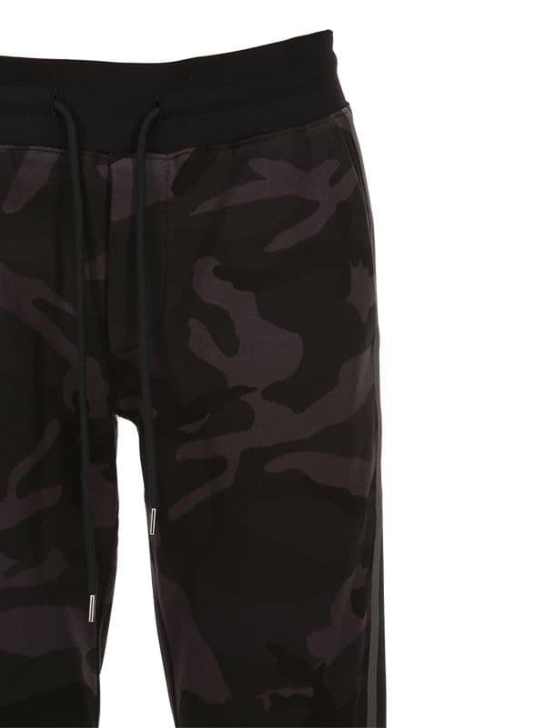 20992402d Lyst - Moncler Cotton Camo Sweatpants in Black for Men