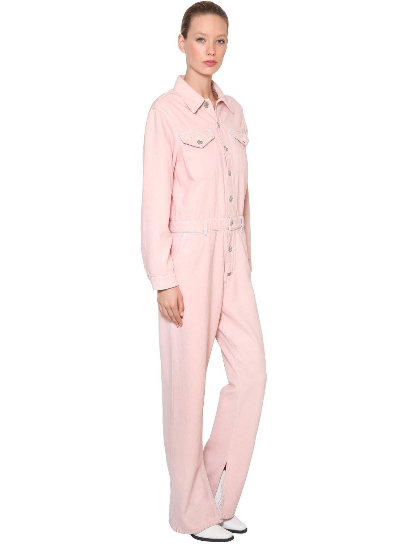 1eee48d1d361 Ganni - Pink Sheldon Cotton Denim Jumpsuit - Lyst. View fullscreen