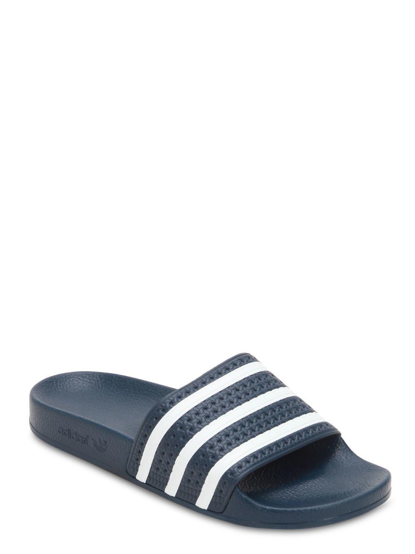 8e75e70c9506d1 Adidas Originals - Blue Adilette Slide Sandals for Men - Lyst. View  fullscreen