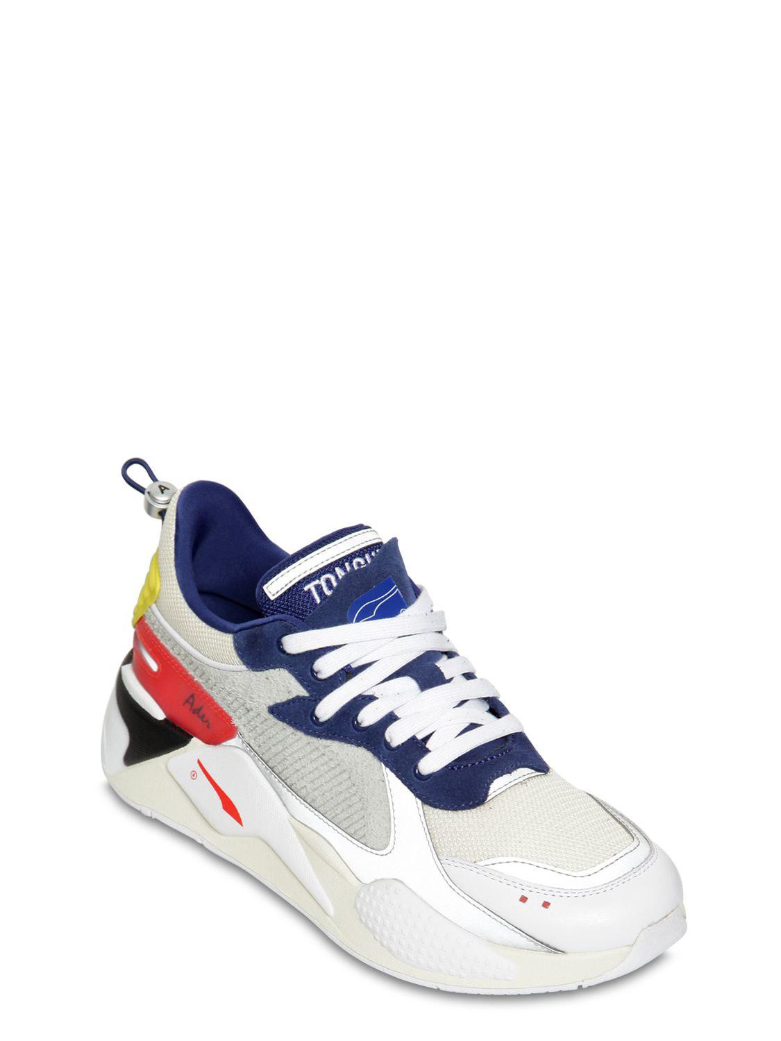 7f16a7f7e276 Lyst - Puma Select Rs-x Ader Error Leather   Mesh Sneakers in Blue for Men