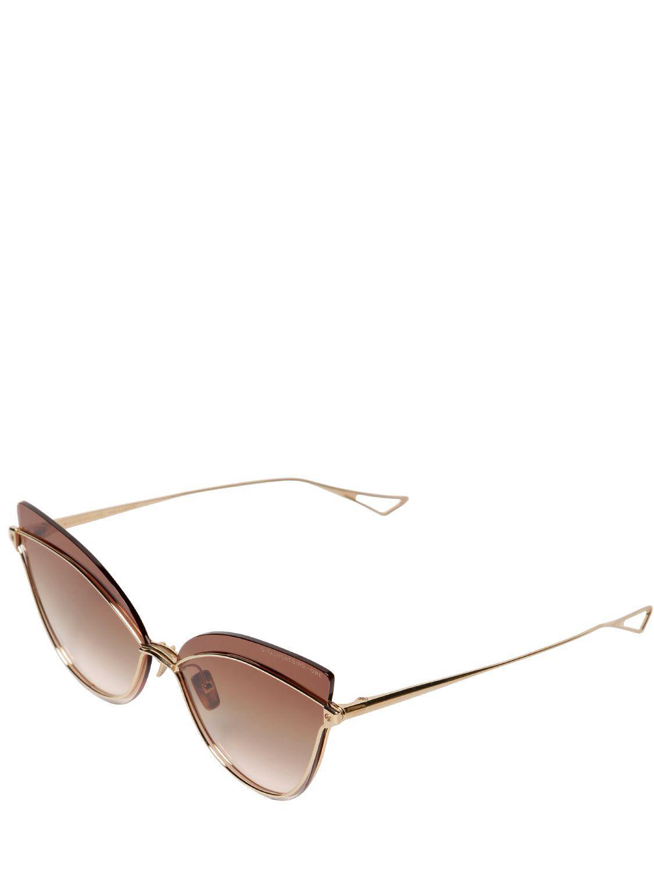 76942ae8978f DITA Nightbird One Cat-eye Sunglasses in Brown - Lyst