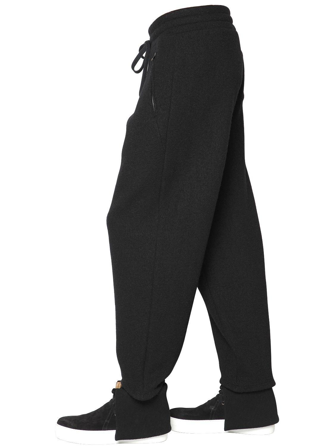 ab1482e9 Ports 1961 20cm Wool Cotton Jersey Jogging Pants in Black for Men ...