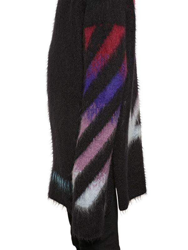 bd9d097b2d4b Lyst - Off-White c o Virgil Abloh Arrows Mohair   Cashmere Sweater ...