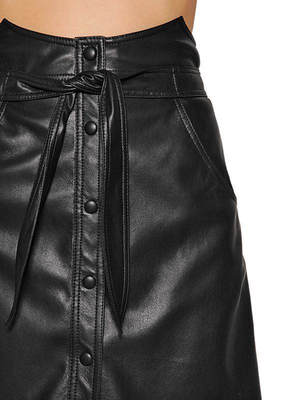 3e2606c8fa Nanushka - Black High Waisted Faux Leather Mini Skirt - Lyst. View  fullscreen