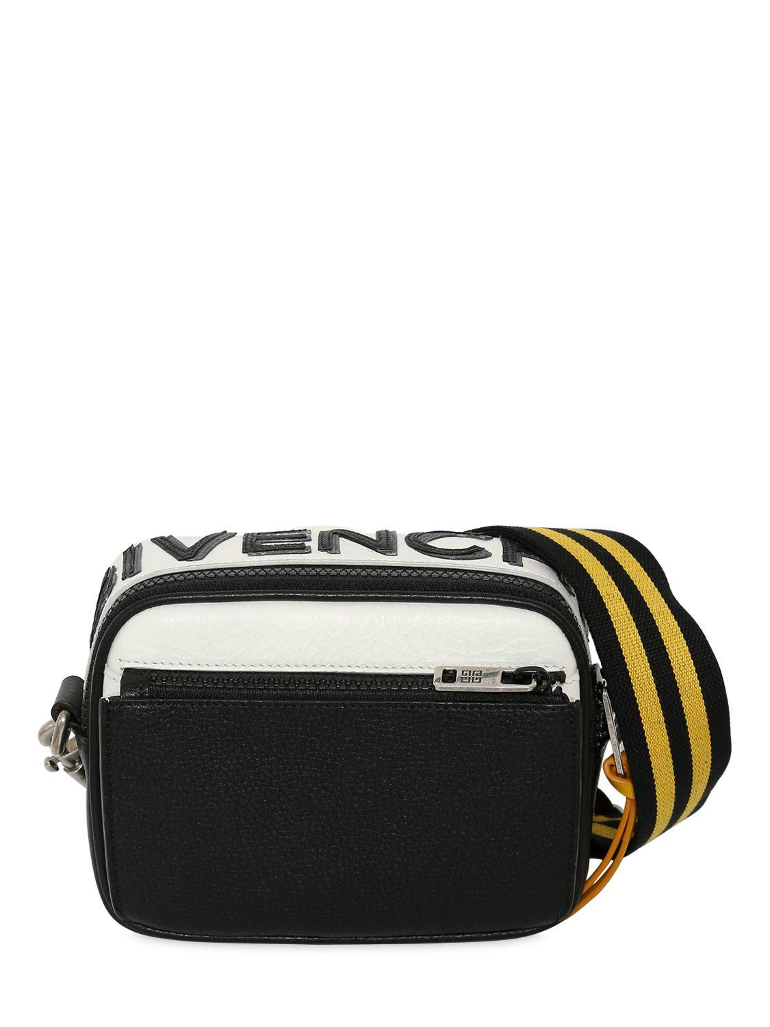 e83ca206 Givenchy Reverse Logo Leather Crossbody Bag in Black for Men - Lyst