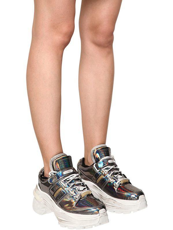 finest selection 506a7 9db23 Maison Margiela - Multicolor 60mm Retrofit Iridescent Sneakers - Lyst. View  fullscreen