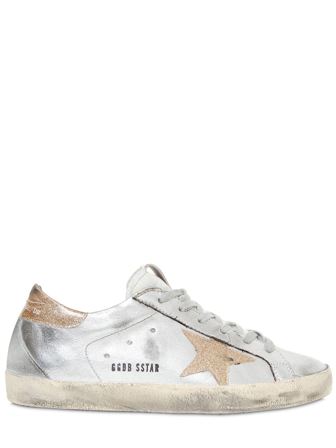 f1e3f4f92b089 Lyst - Golden Goose Deluxe Brand Superstar Metallic Leather Low-Top ...