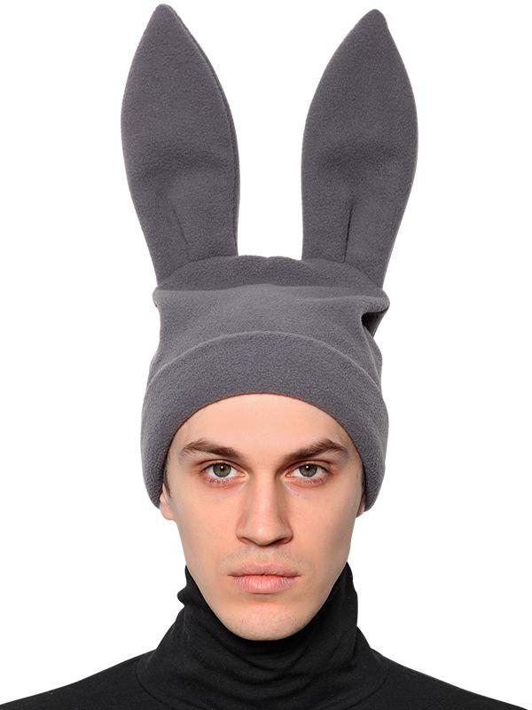 Lyst - Comme des Garçons Rabbit Ears Fleece Beanie Hat in Gray for Men 4b03bcd4635