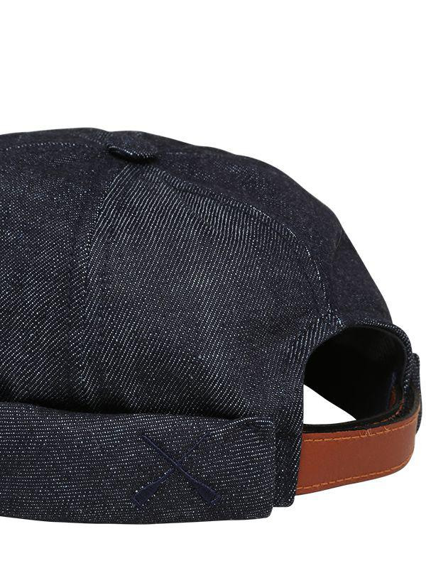 1463b253d08 Beton Cire - Blue Handmade Washed Cotton Denim Sailor Hat for Men - Lyst.  View fullscreen