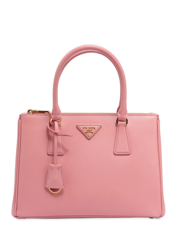 Prada - Pink Medium Galleria Saffiano Leather Bag - Lyst. View fullscreen 996da399a787b