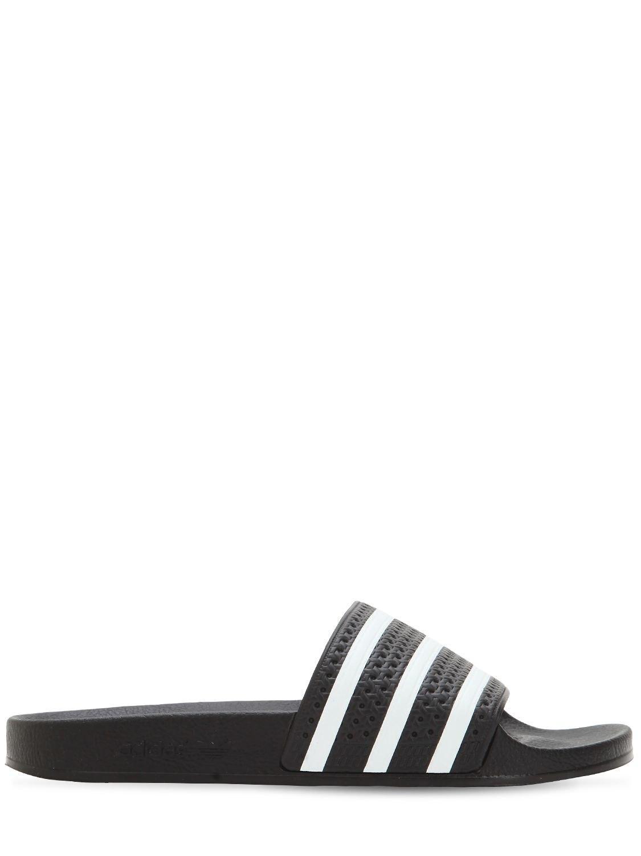 d5a7f052 adidas Originals Adilette Rubber Slide Sandals in Black for Men - Lyst