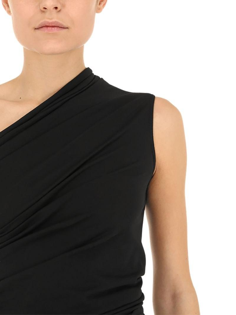 1b26407ad0ef2 Rick Owens - Black One Shoulder Cotton Jersey Top - Lyst. View fullscreen