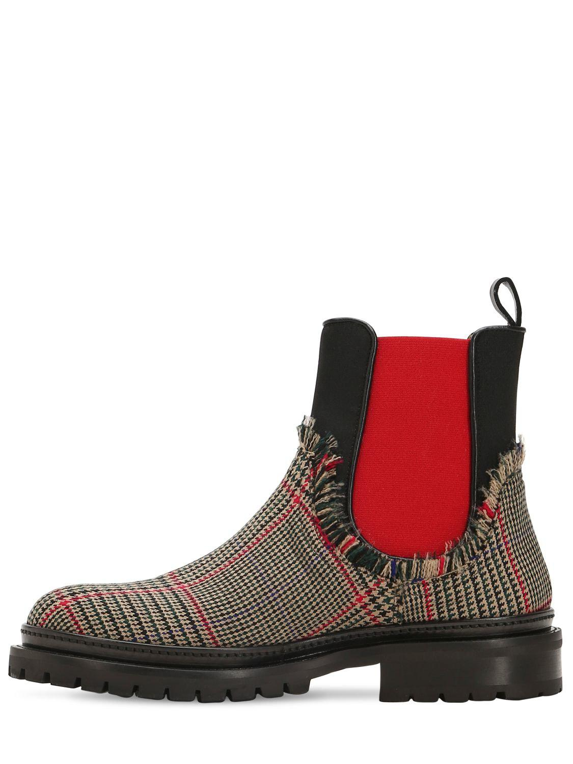 L Autre Chose 20MM WOOL PRICE OF WALES CHELSEA BOOTS 1IIOcOTXo
