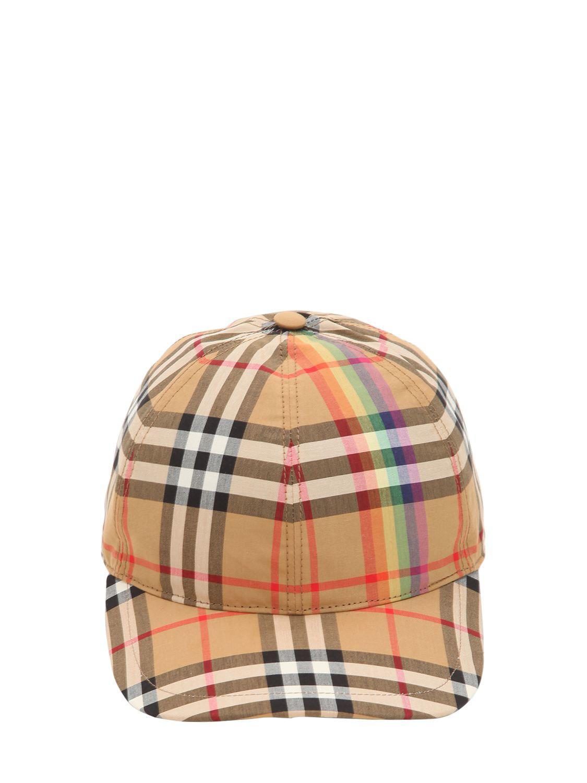 Burberry Check Cap for Men - Save 6.122448979591837% - Lyst b649fa1f36df
