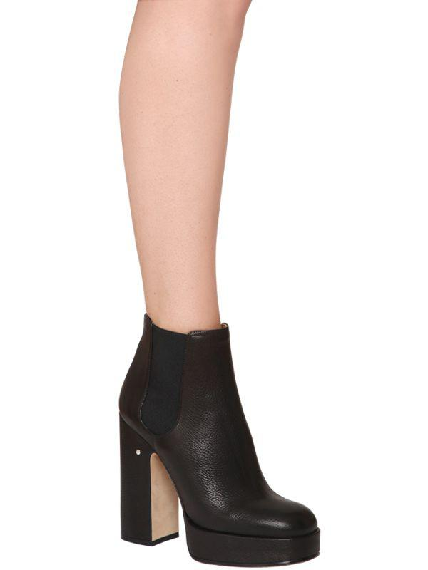 d61d8828c44 Lyst - Laurence Dacade 120mm Rosa Leather Platform Boots in Black