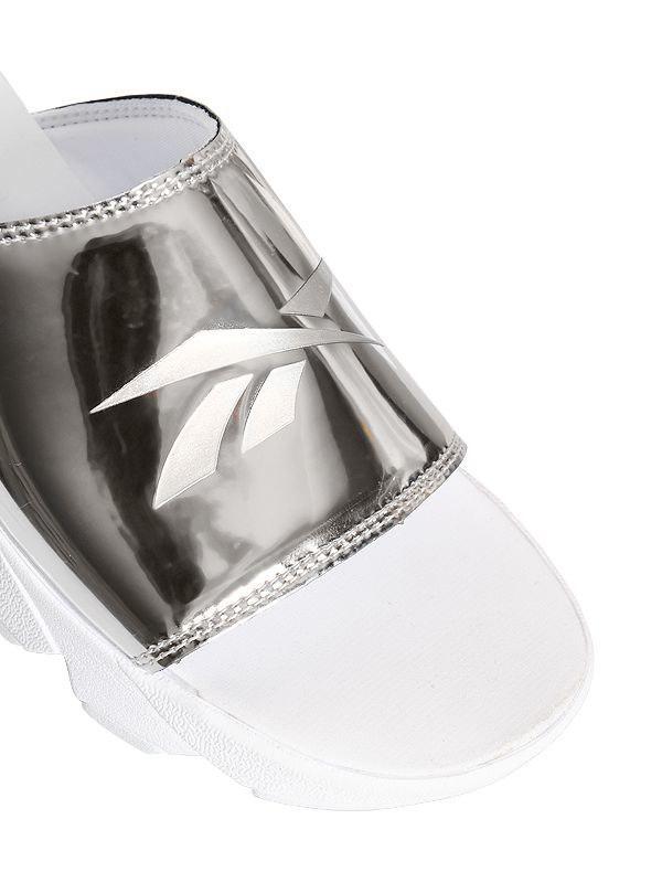 a3cc4fdde Reebok Fury Magic Hour Metallic Leather Sandals in Metallic - Lyst