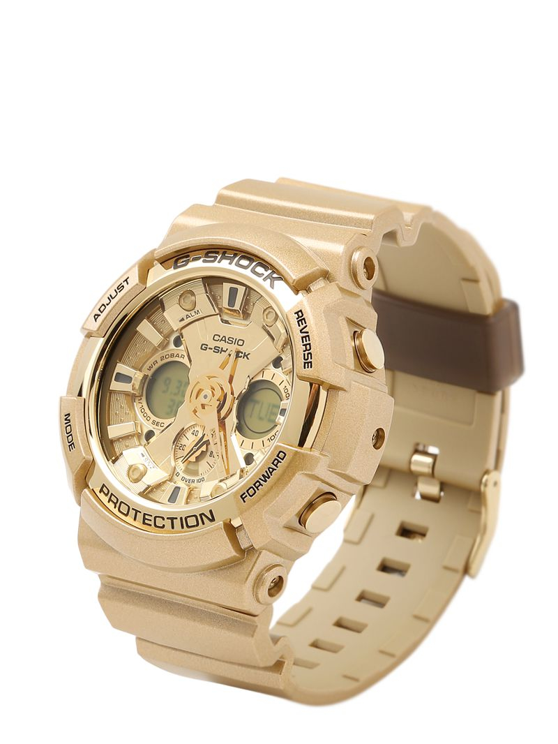 lyst g shock crazy gold digital watch in metallic. Black Bedroom Furniture Sets. Home Design Ideas