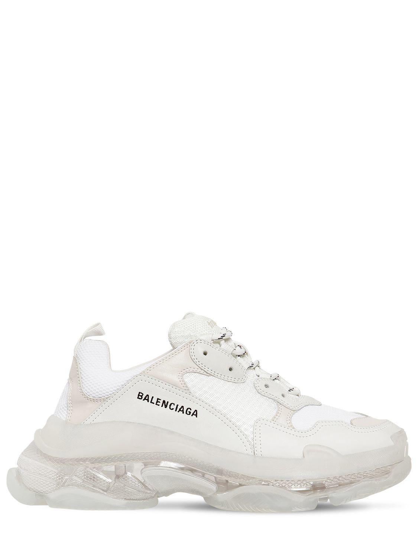 fed430c5b2fc Balenciaga - White Triple S Bubble Sole Sneakers for Men - Lyst. View  fullscreen