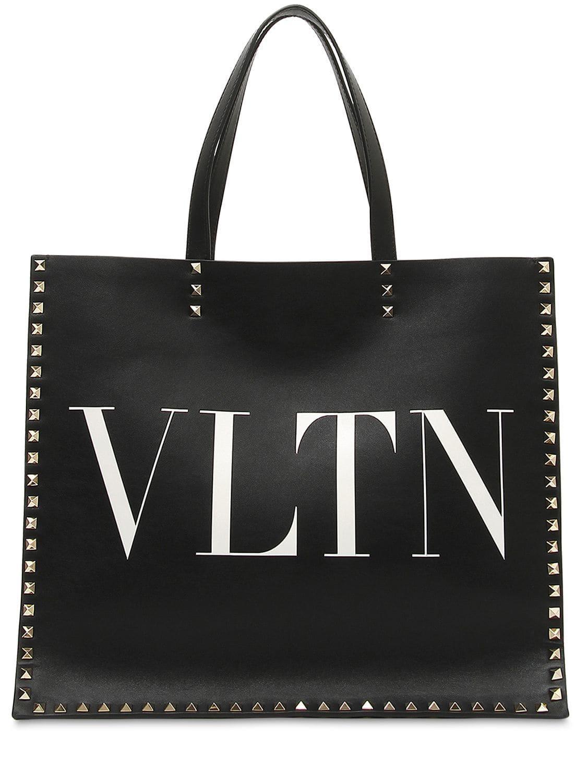Valentino Garavani Rockstud Vltn Tote Bag in Black - Save 20% - Lyst 0ee4ee0accfcf