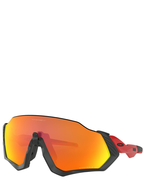 132196879bf48 Oakley Flight Jacket Mtblk rdlne Sunglasses in Red - Lyst