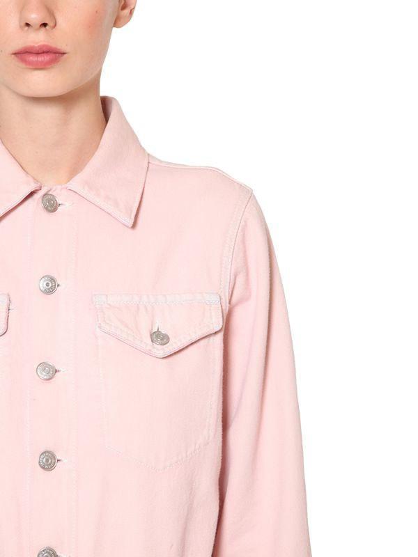 c54dfb0cd79a Lyst - Ganni Sheldon Cotton Denim Jumpsuit in Pink