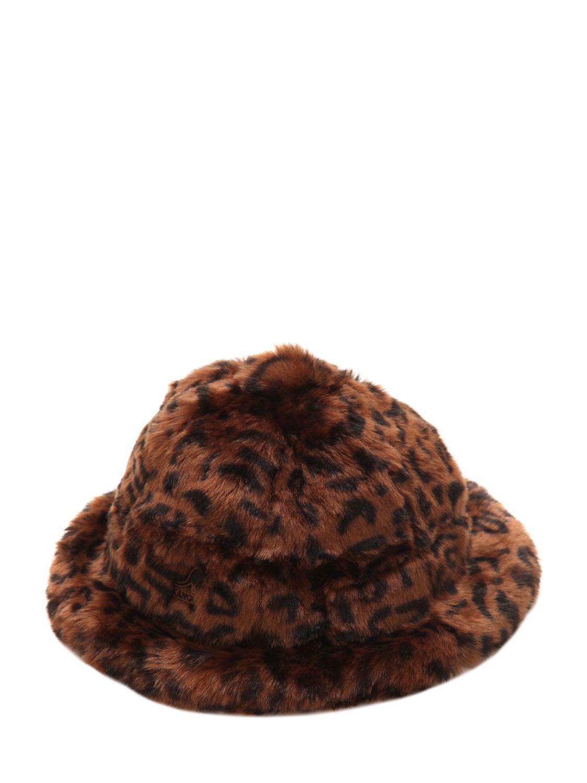 45626ce5 Kangol Leopard Print Faux Fur Bucket Hat in Brown for Men - Lyst