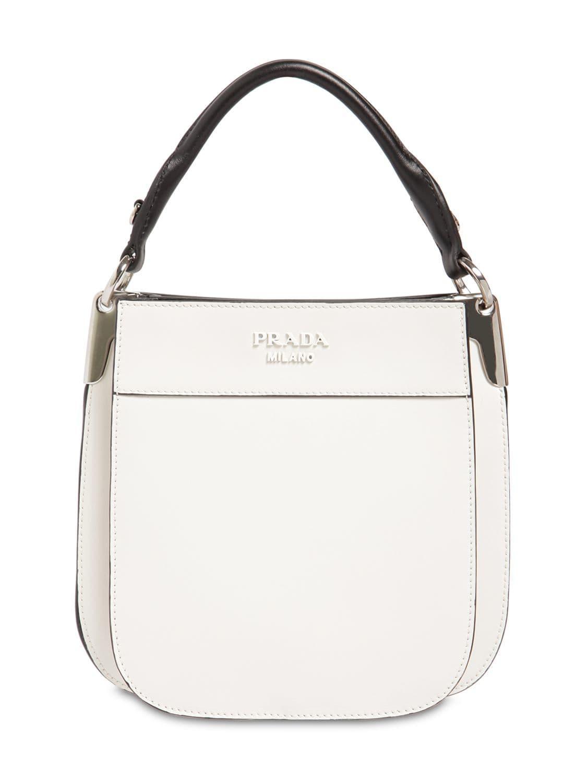 8de6f5f1d1 Lyst - Prada Small Margit City Leather Bag in White