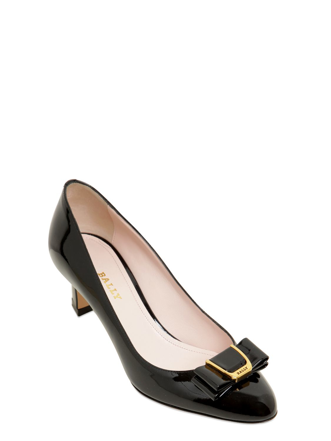 d647999a3ef2 Lyst - Bally 55mm Bellyna Bow Patent Leather Pumps in Black