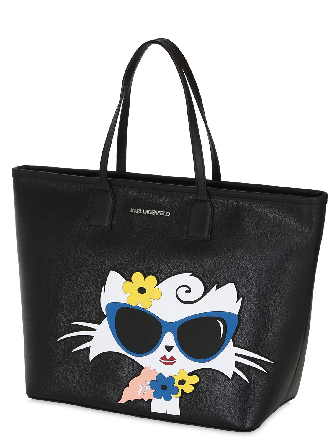 karl lagerfeld choupette beach tote bag in black lyst. Black Bedroom Furniture Sets. Home Design Ideas