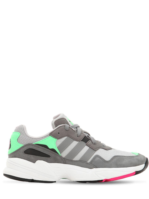 more photos cec7c 03973 adidas Originals. Men s Gray Yung-96 Leather   Mesh Trainers