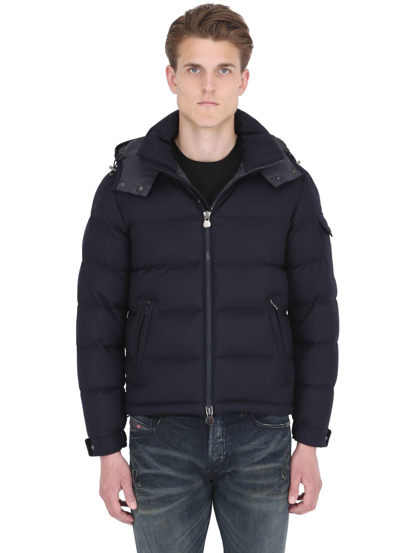 Moncler Montgenevre Light Flannel Down Jacket in Blue for Men - Save 9% | Lyst