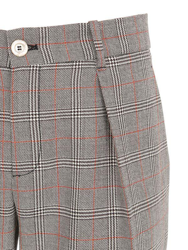 Lyst Gucci Plaid Wool Pants In Gray