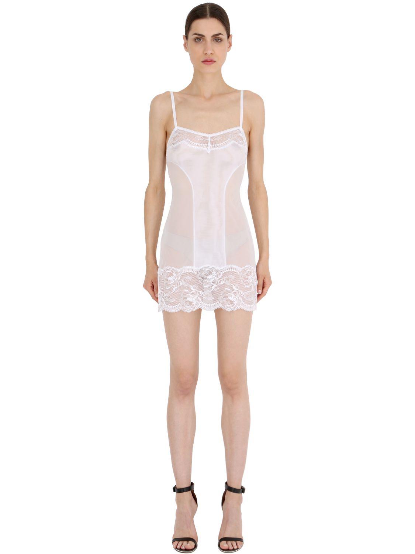 Lyst La Perla Begonia Babydoll Dress in White