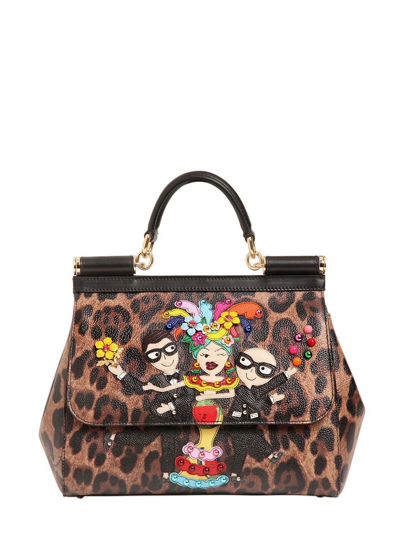 a12bbbb9e9 Dolce Gabbana Sicily Bag Leopard