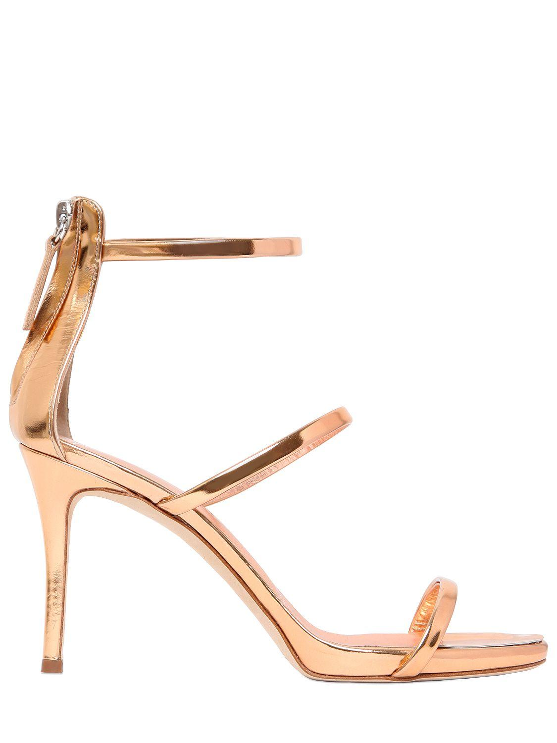 eccf95b75 ... hot lyst giuseppe zanotti harmony metallic leather sandals in metallic  0aab2 efb57