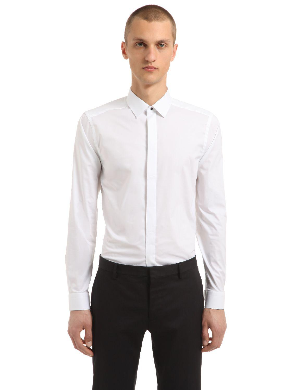 Eton Of Sweden Super Slim Cotton Poplin Shirt In White For