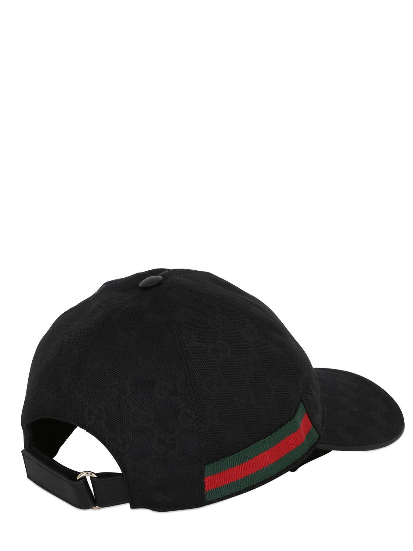 gucci original gg canvas baseball hat in black for lyst