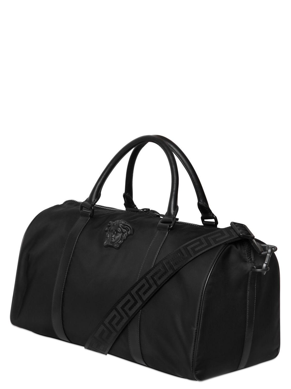 864d856650a0 Lyst - Versace Medusa Nylon Duffle Bag in Black for Men