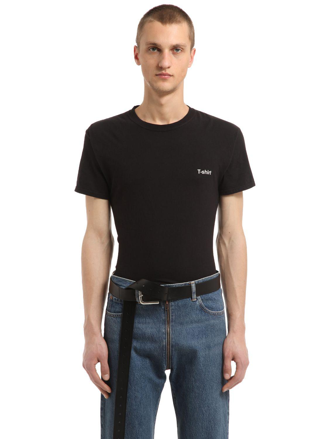 Lyst Vetements Hanes Printed Jersey T Shirt In Black For Men