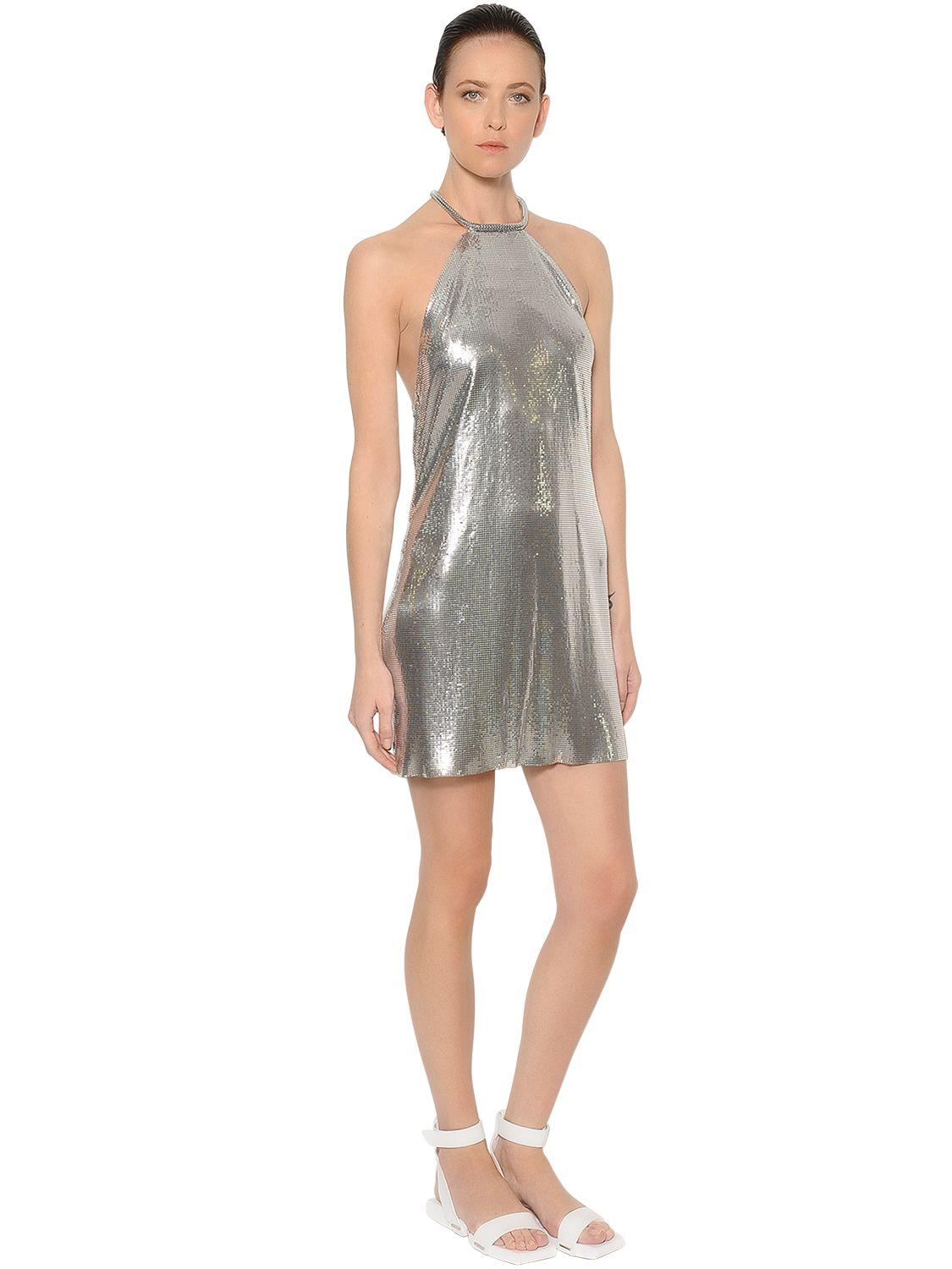 Paco Rabanne Aluminum Chainmail Dress In Metallic Lyst