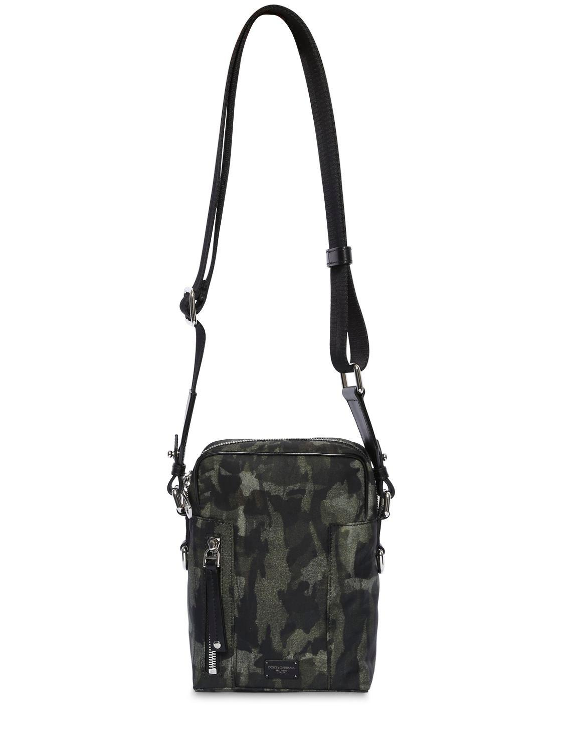 Dolce   Gabbana Camouflage Nylon Crossbody Bag in Black for Men - Lyst 8c623a7c1bcc7