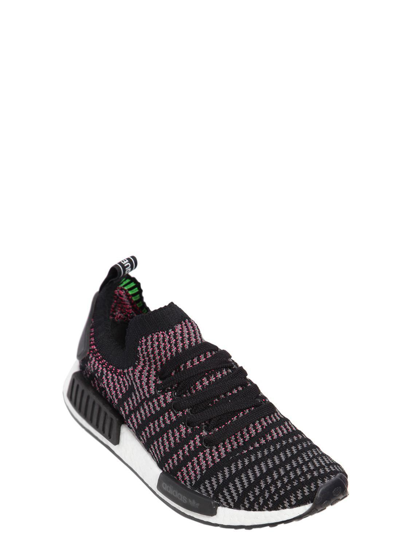Adidas Originals Nmd R1 Stlt In Primeknit Sneakers In Stlt Schwarz
