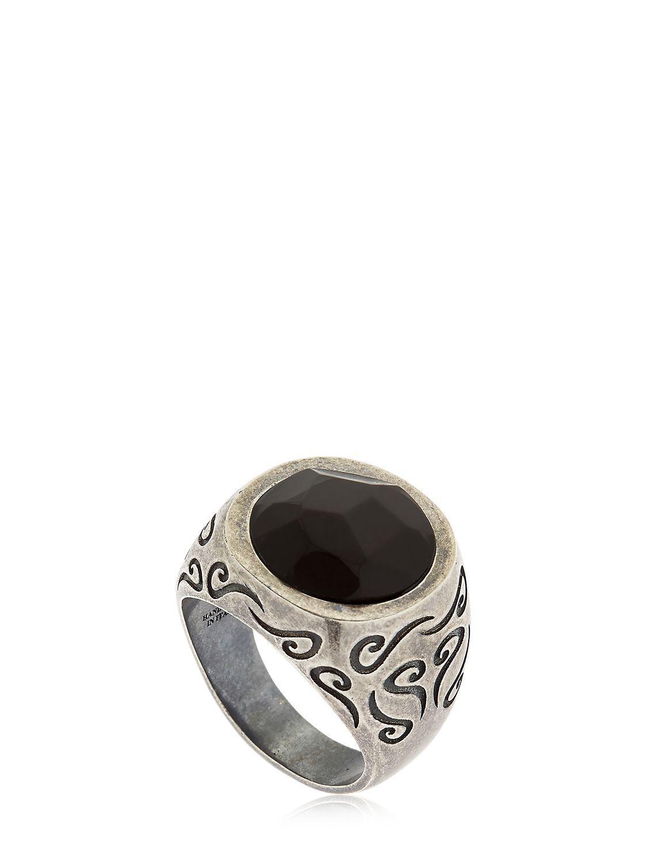 Marco Dal Maso Ara Silver & 18K Yellow Gold Signet Ring, Size 10