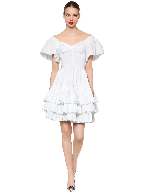 8beec1623 Vestido De Popelina De Algodón Volantes Dolce   Gabbana de color ...