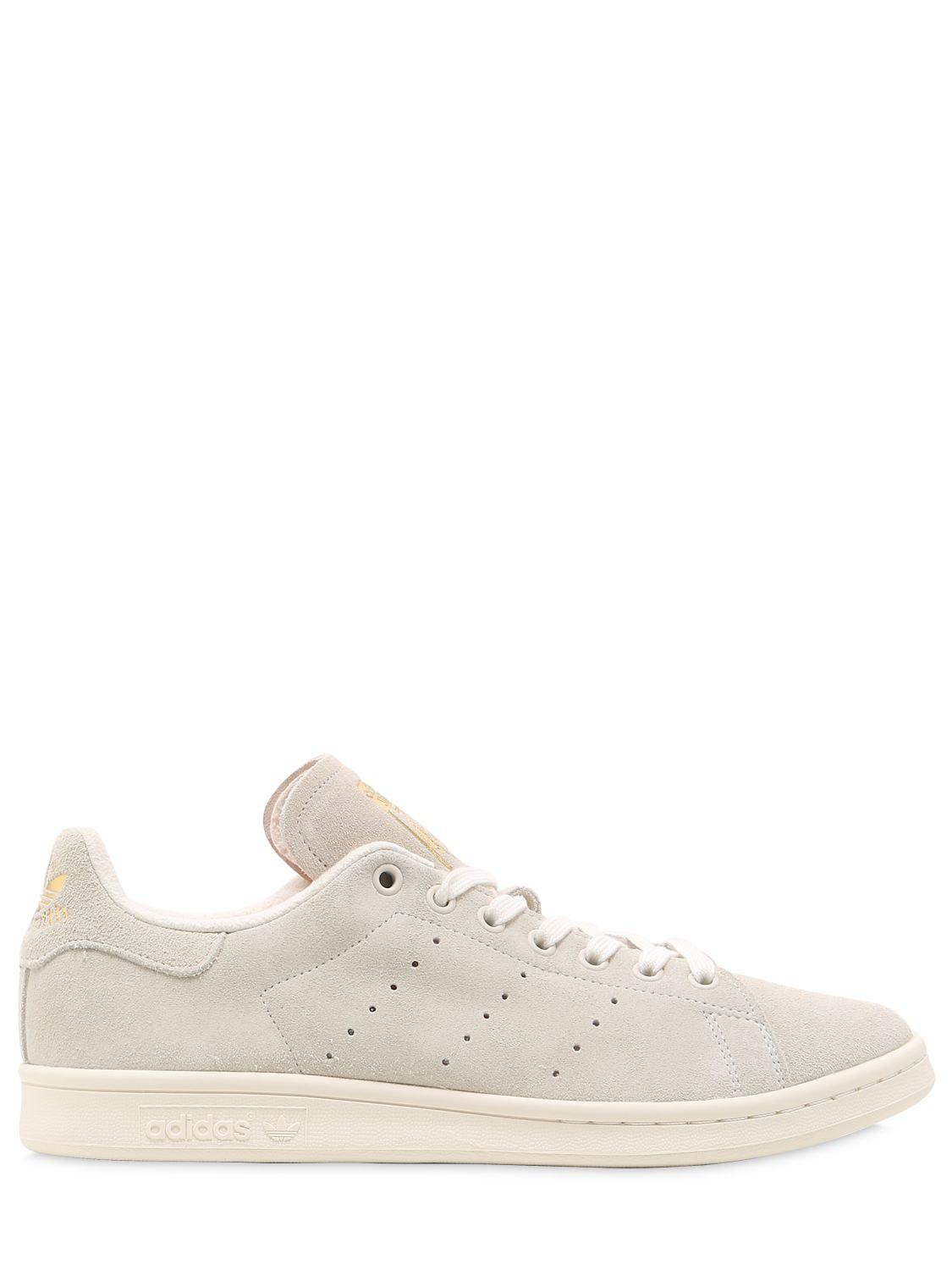 Lyst - adidas Originals Stan Smith Suede Sneakers in Natural for Men d3a407b6c888