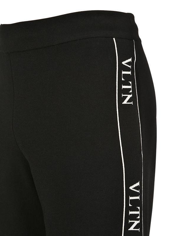 f3c593639a15 Lyst - Valentino Vltn Viscose Blend Knit Track Pants in Black for Men
