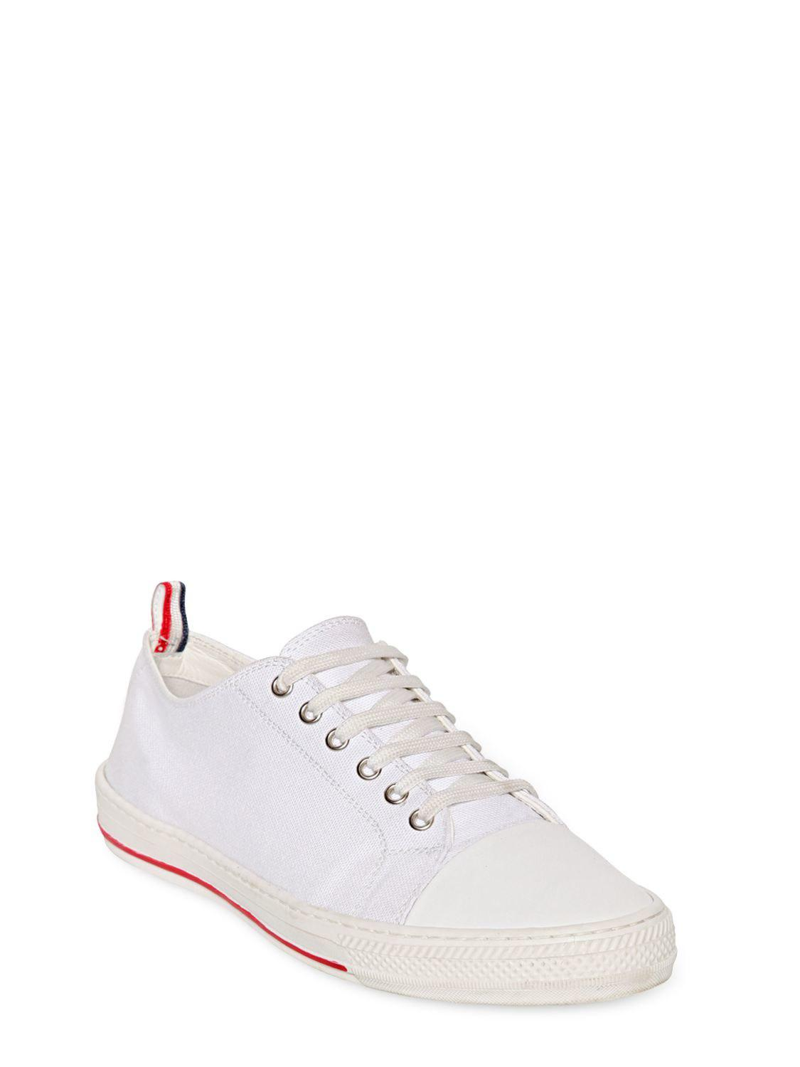 Moncler COTTON CANVAS SNEAKERS IC7yC9ALX7